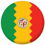 Los Angeles, California Flag 25mm Button Badge